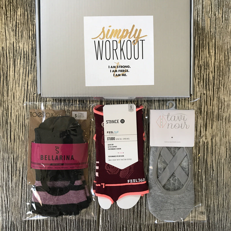 Grip Socks - Ballerina Goals Box (set of 3) (Barre/Pilates)