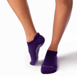 eve grip socks by barre girl in purple