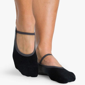Piper Grip Sock Charcoal Black