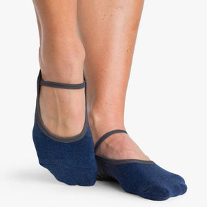 Piper Grip Sock Charcoal Indigo