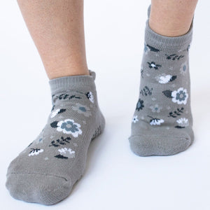 grippy sox fun floral grip socks