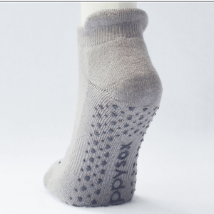 Mustache Grip Socks in Grey by GrippySox