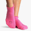 pointe studio happy grip socks pink