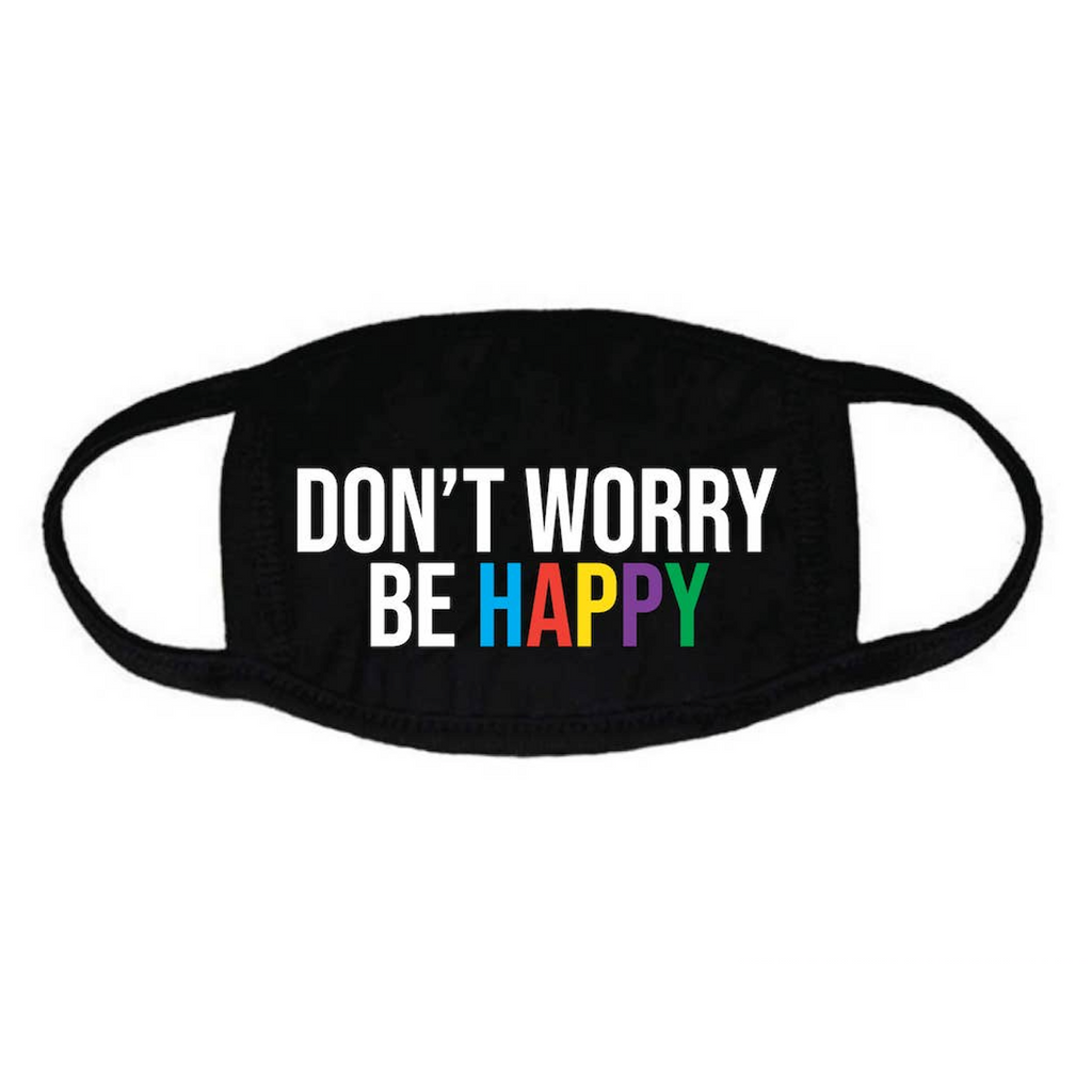 house of tens dont worry be happy face mask kids