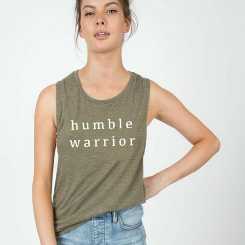 Humble Warrior - Muscle Tank - Olive