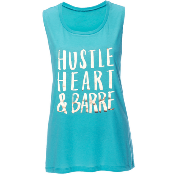 Hustle Heart & Barre Muscle Tank