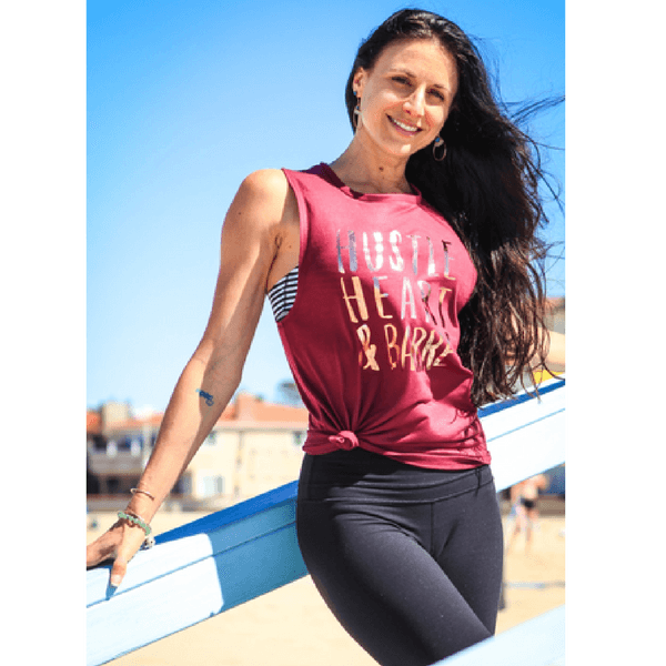move and movie hustle and heart barre tank