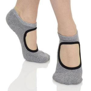 Isabella Grip Sock (Barre / Pilates) - Great Soles gray