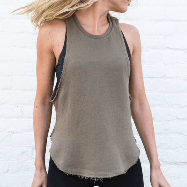 Lazy Day Tank - Joah Brown in army olive