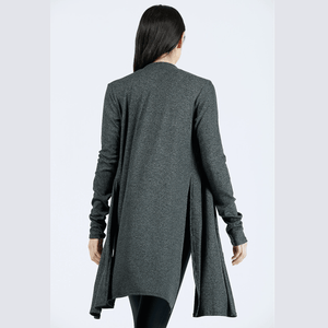 joah brown luna cardigan in charcoal