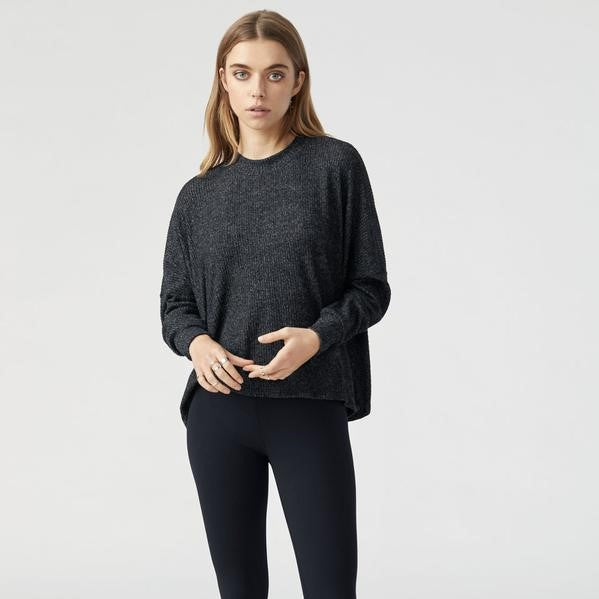 Joah Brown Epic Long Sleeve in Marble Hacci Rib