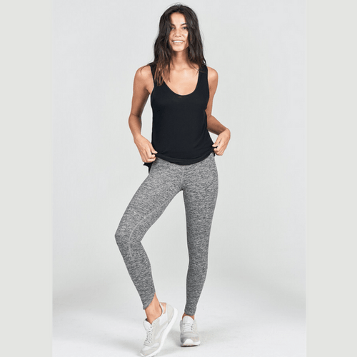joah brown lift leggings in marled gray