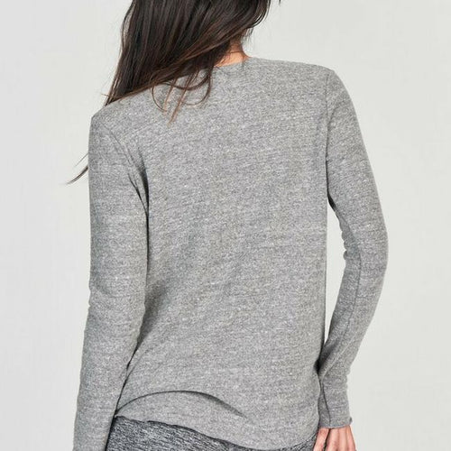 joah brown saint long sleeve tee top in gray