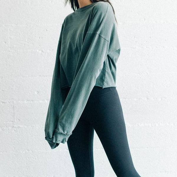Joah Brown Soho Long Sleeve in Emerald Cotton