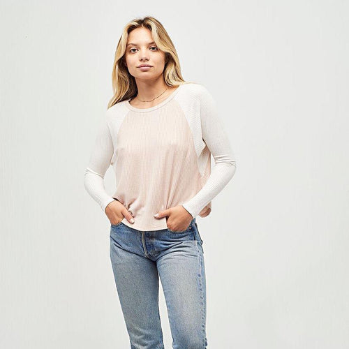 Prime Time Long Sleeve Tee - Taupe Thermal