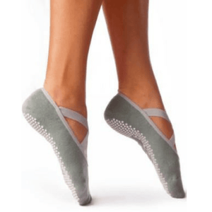 daphne barre girl grip sock in steel gray