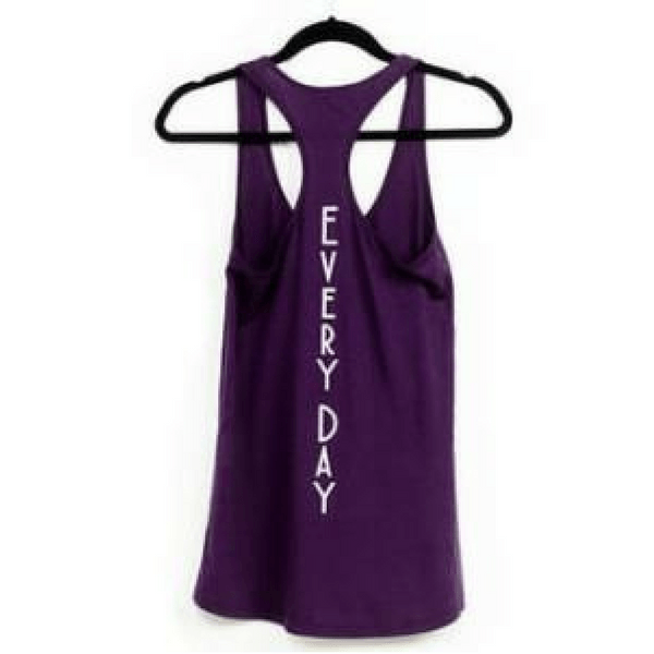 leggings all day purple workout tank by EDJE ACTIV