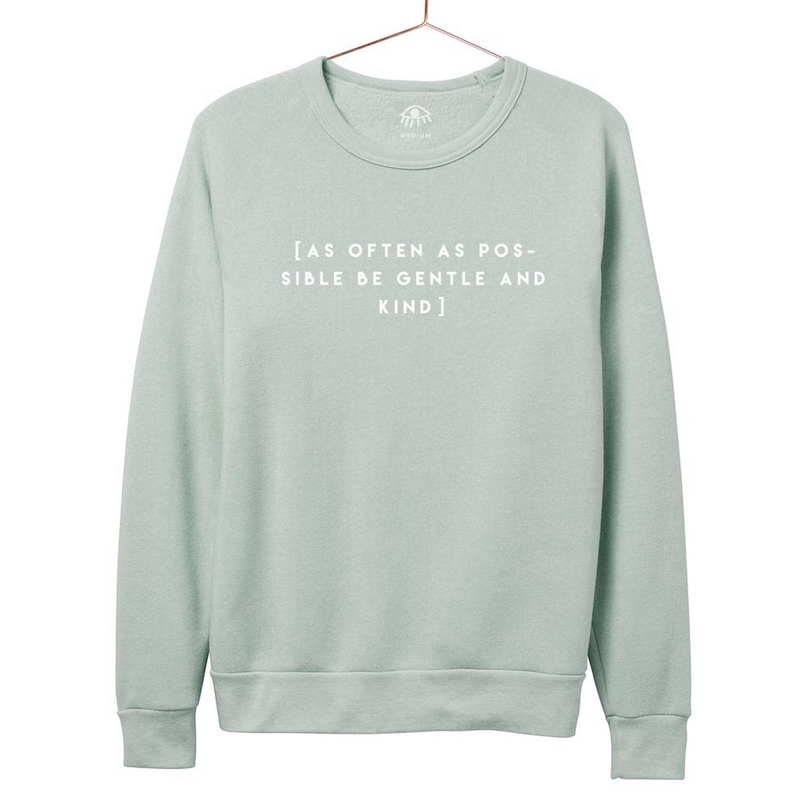 luciana as often as possible be kind crewneck mint