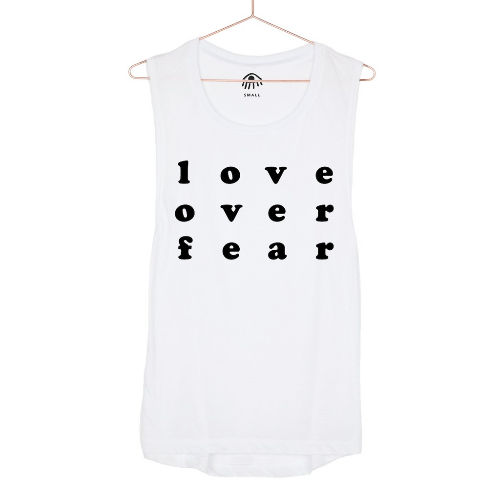 luciana love over fear muscle tank white
