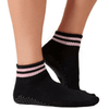 boyfriend lucky honey crew grip sock in black