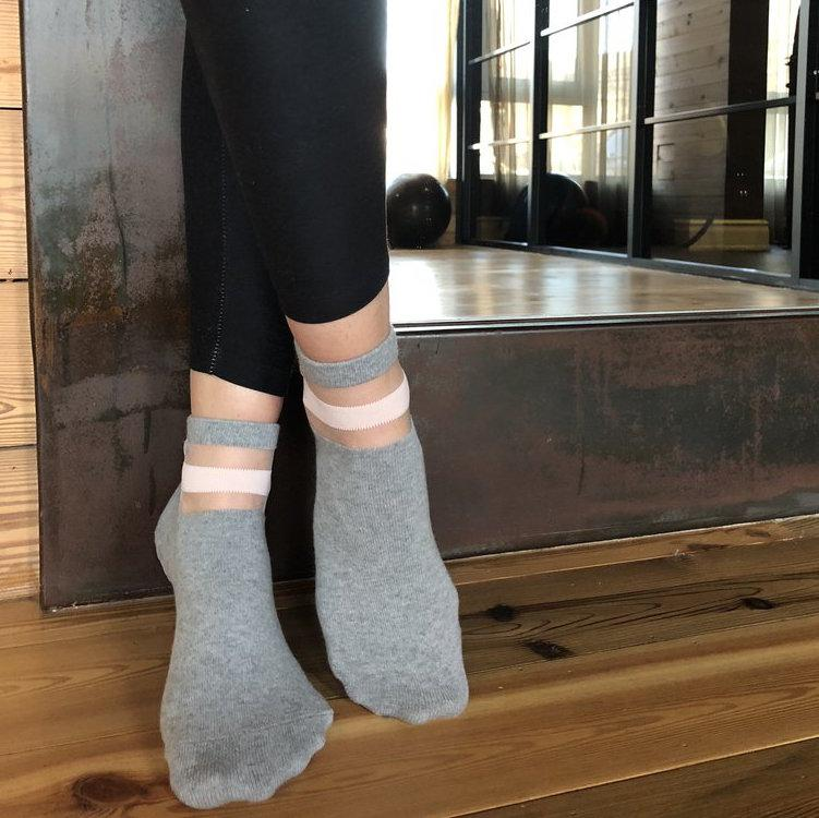 lucky honey The Crew Sock - Light Grey