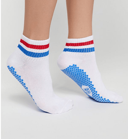 the boyfriend lucky honey grip sock in white crew