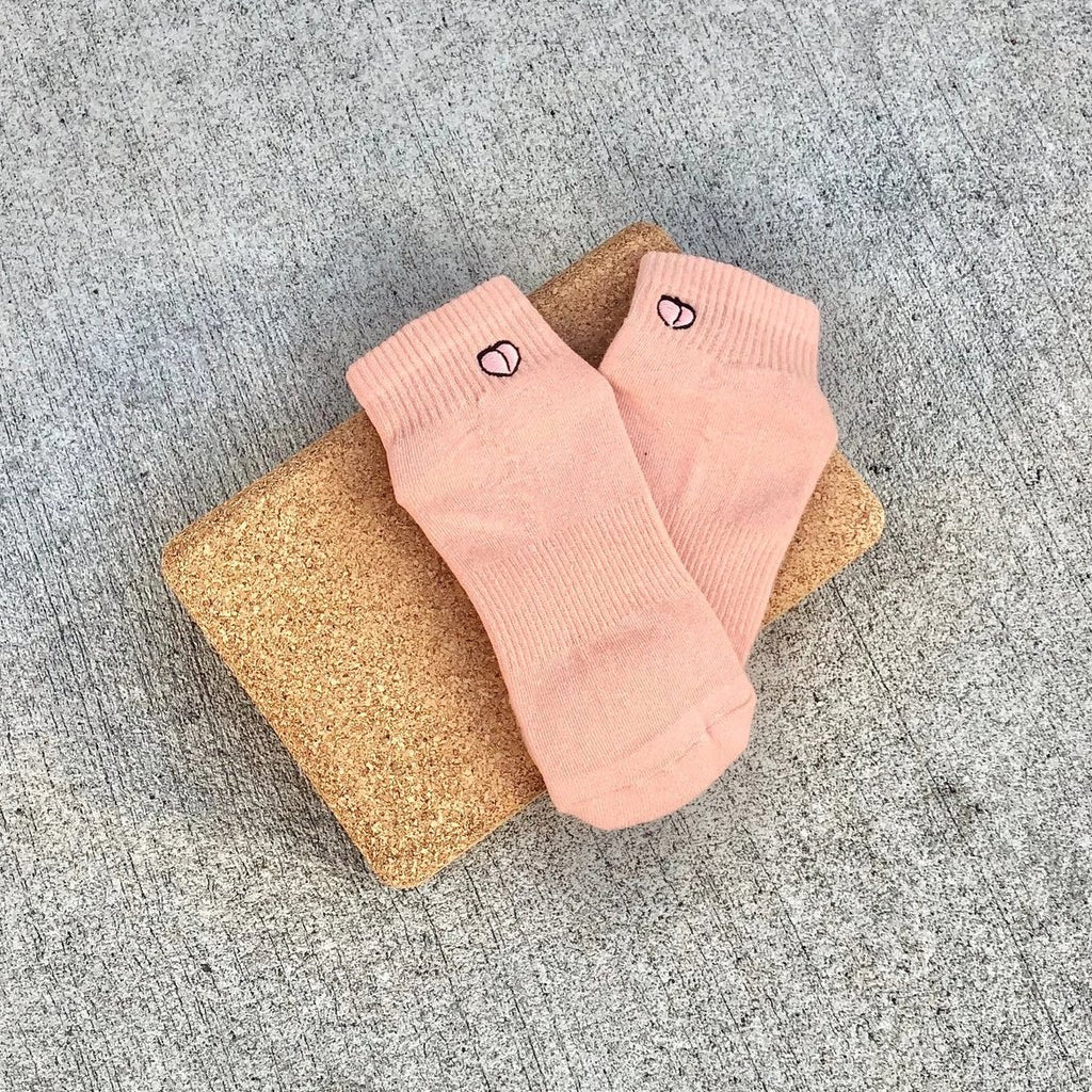 lucky honey harlow grip sock peachy