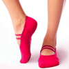 barre girl grip socks by barre girl mary jane style pink