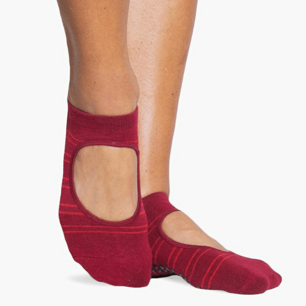 Mila Grip Sock Red Multi