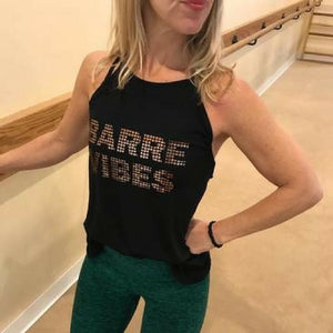 move and moxie Barre Vibes - Foil - Tank in black