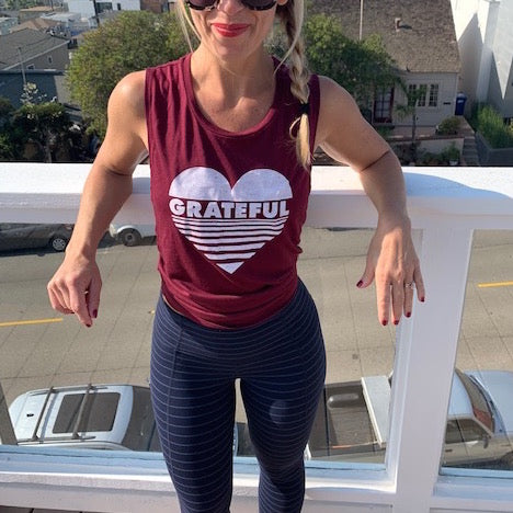 move and moxie grateful tank in burgundy