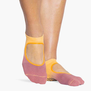 nina  pointe studio grip socks blush orange