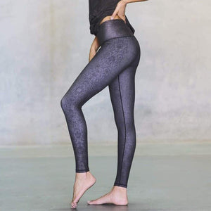 niyama sol mocha diamond back barefoot legging