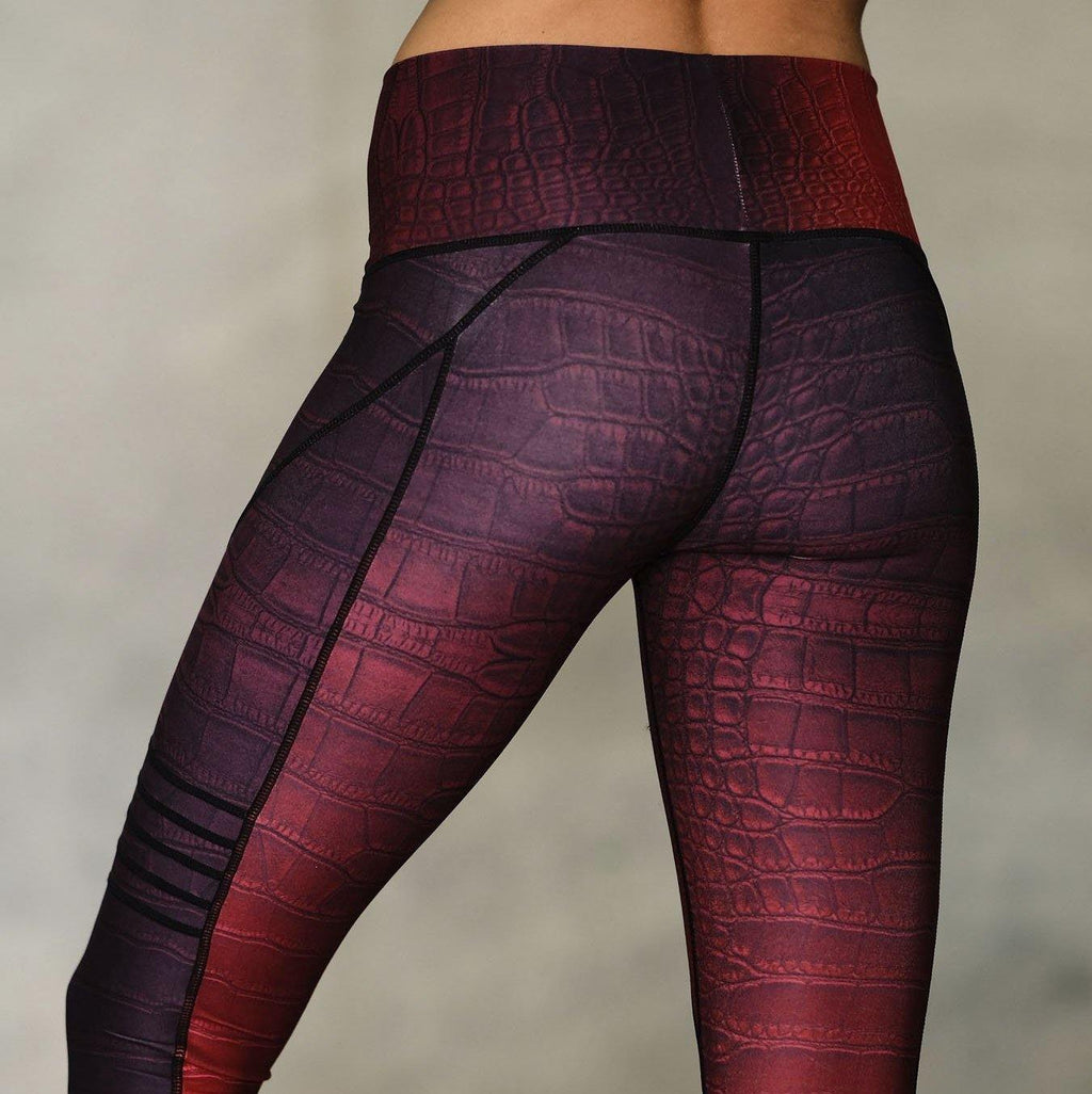 niyama sol red croc slice leggings