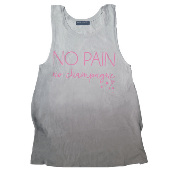 no pain no champagne workout tank by edje activ