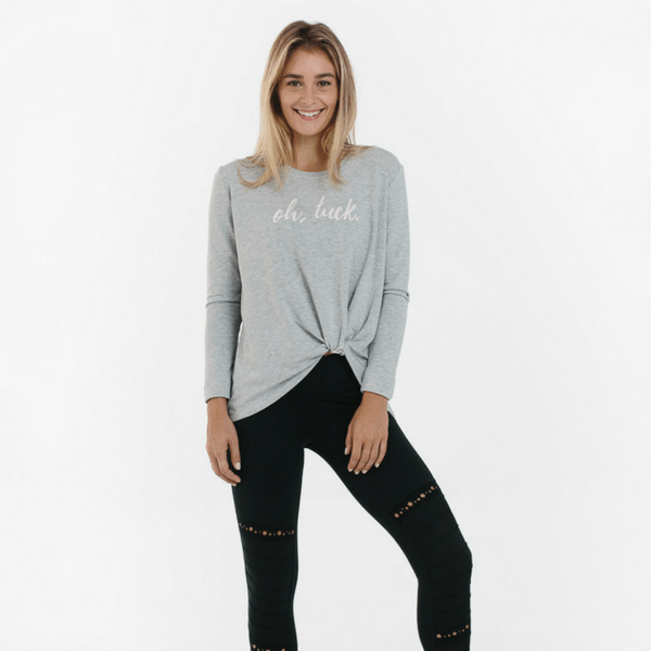 Oh, Tuck Knotted Long Sleeve