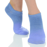 Ombre Grip Sock -  (Barre / Pilates) - Great Soles in blue