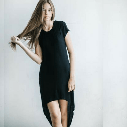 On Point Dress - Black Rib