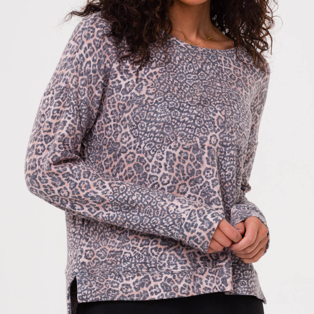 onzie high low sweatshirt pounce