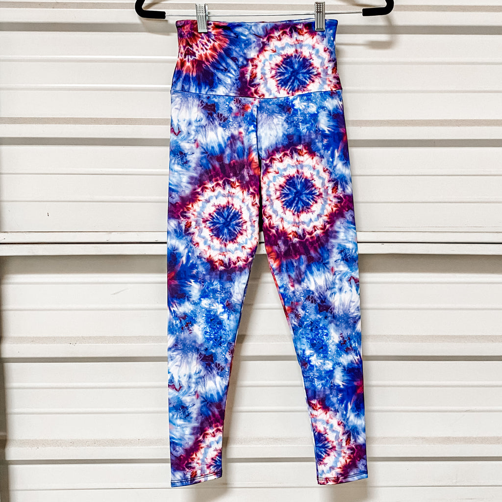 onzie high rise basic fourth tie dye midi leggings