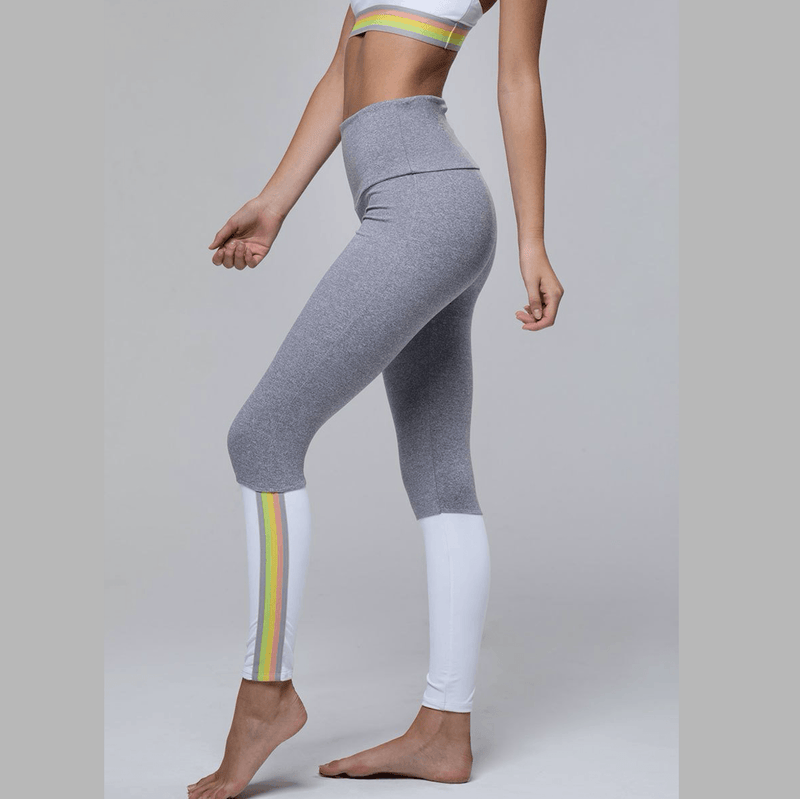 onzie olympian leggings in white hot yoga pants