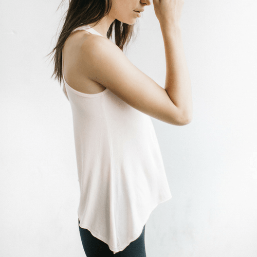 perfect shape tank top in blush by joah brown