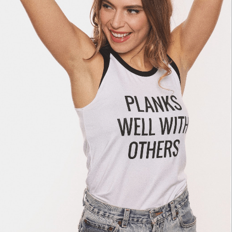 Planks Well With Others - Two Tone Tank Top