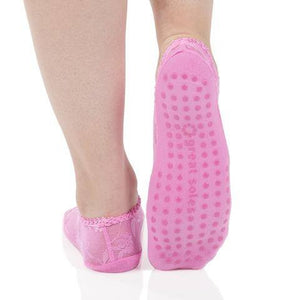 lace grip socks in pink by great soles