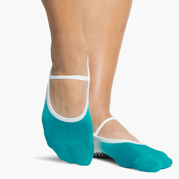 Piper Grip Sock Oatmeal Teal