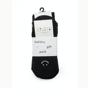 pointe studio grip socks bundle 3 pack black