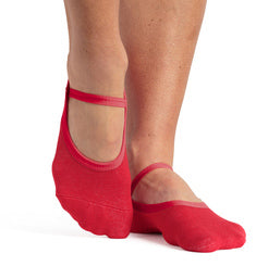 pointe studio karina red grip socks