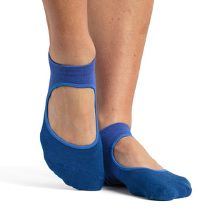 Pointe Studio Nina grip sock blue teal