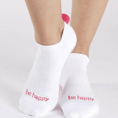 Pom Pom Grip Socks - Be Happy  (Barre / Pilates)