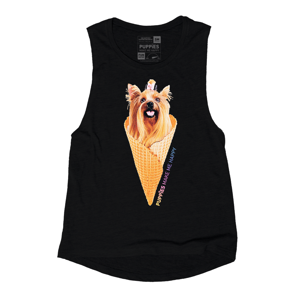 3d6a2ec56b0f1 PUPPIES MAKE ME HAPPY - Puppies and Ice cream Tank – simplyWORKOUT